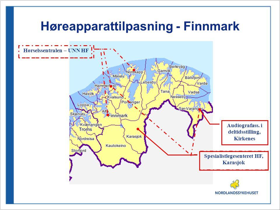 Høreapparattilpasning - Finnmark