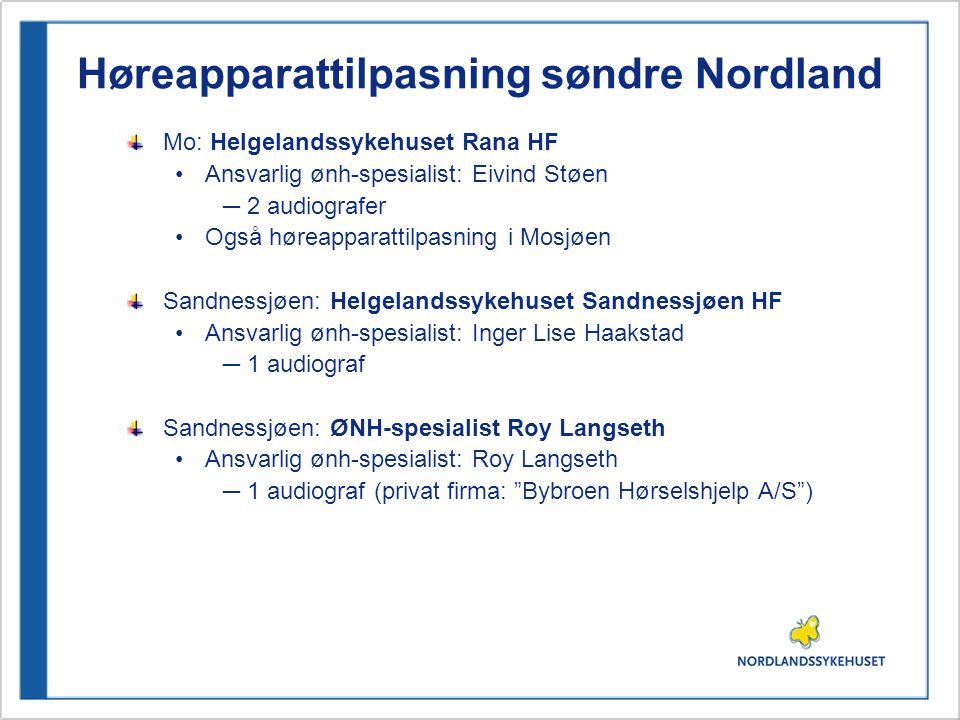 Høreapparattilpasning søndre Nordland