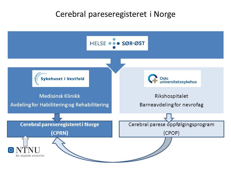 Cerebral pareseregisteret i Norge