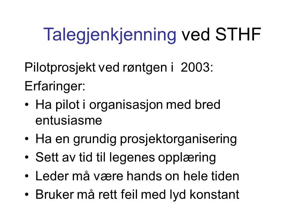 Talegjenkjenning ved STHF