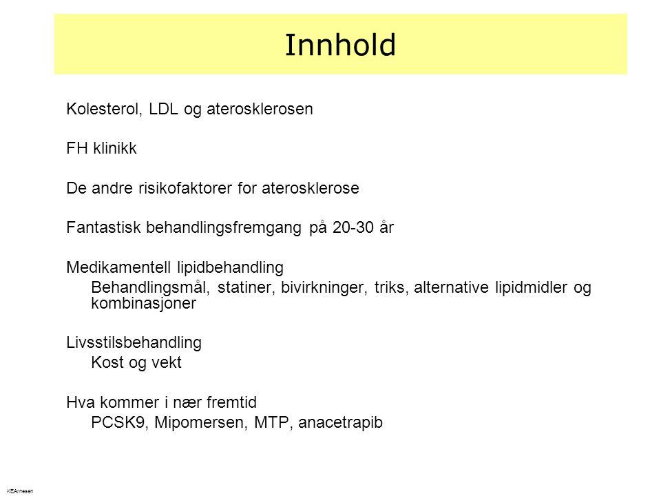 Innhold Kolesterol, LDL og aterosklerosen FH klinikk