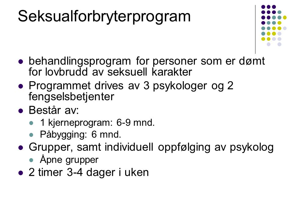 Seksualforbryterprogram