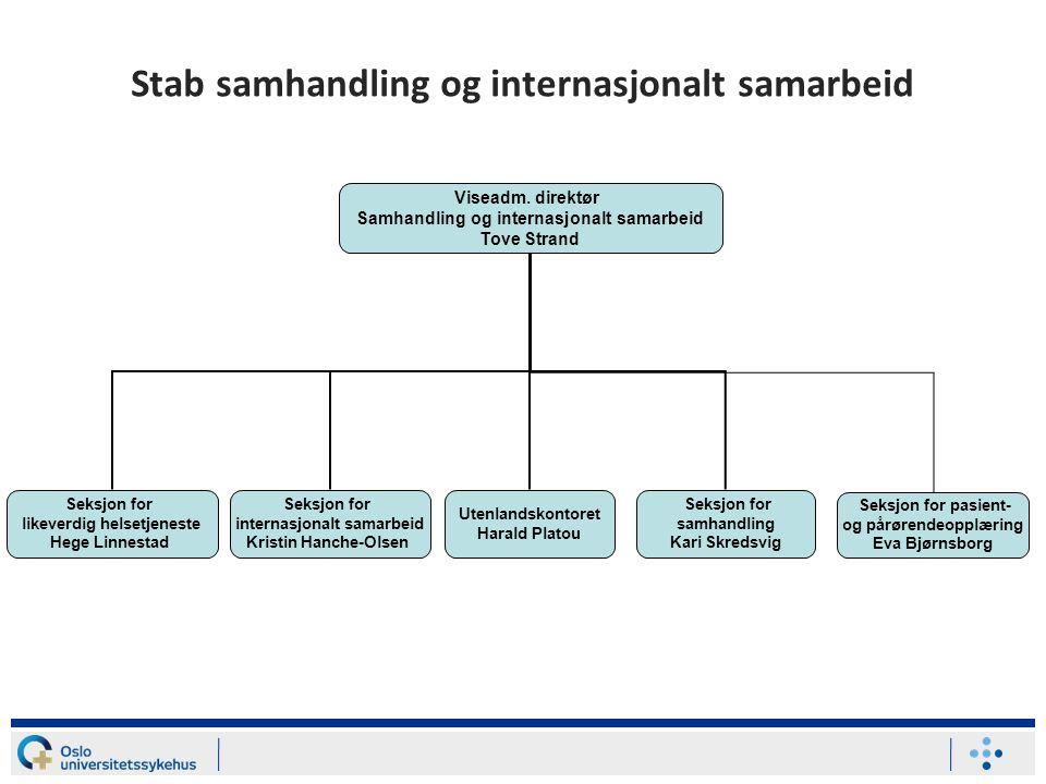 Stab samhandling og internasjonalt samarbeid