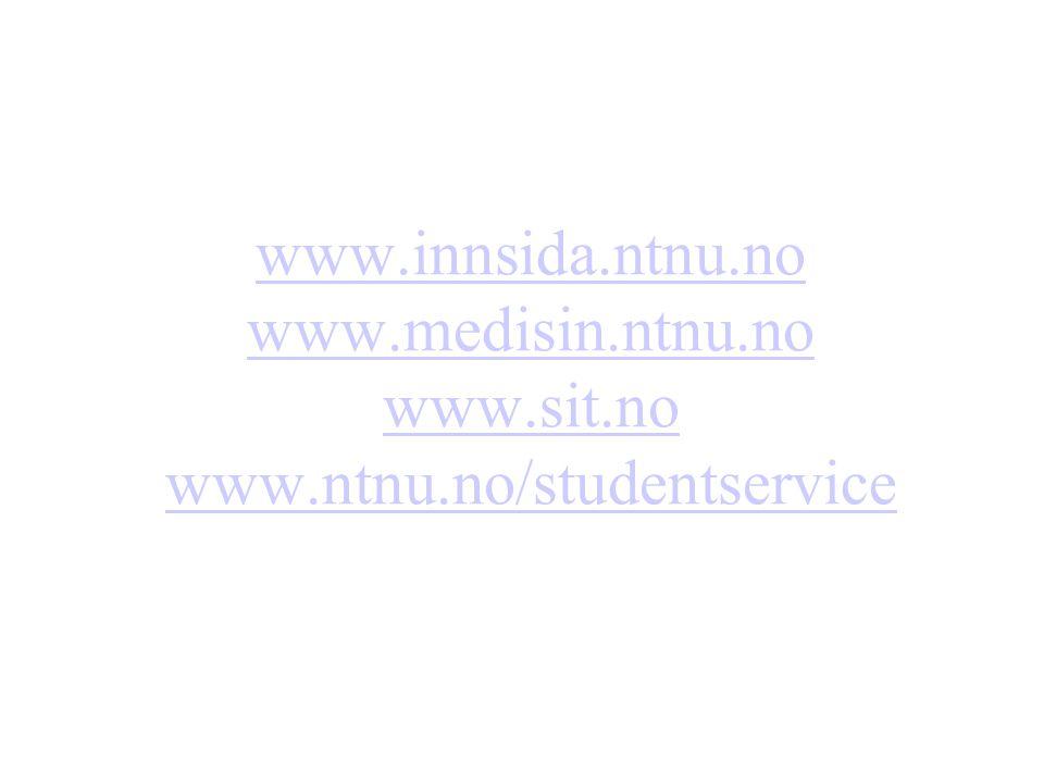 www. innsida. ntnu. no www. medisin. ntnu. no www. sit. no www. ntnu