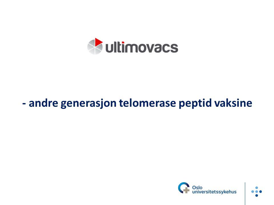 - andre generasjon telomerase peptid vaksine