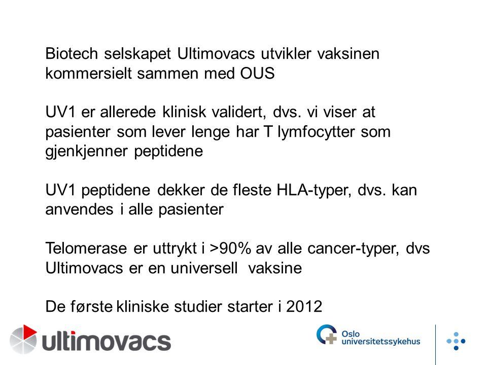 Biotech selskapet Ultimovacs utvikler vaksinen