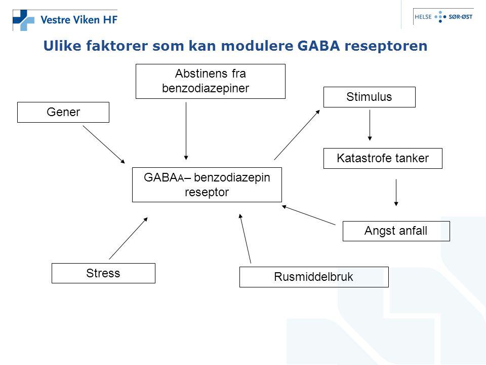Ulike faktorer som kan modulere GABA reseptoren