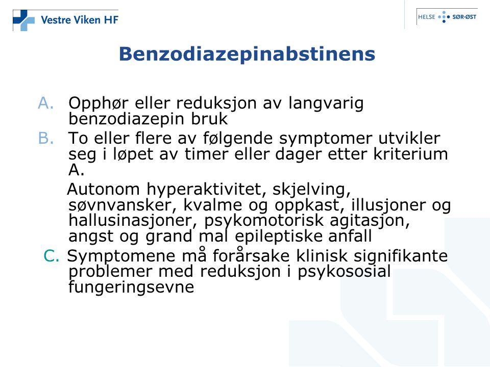Benzodiazepinabstinens