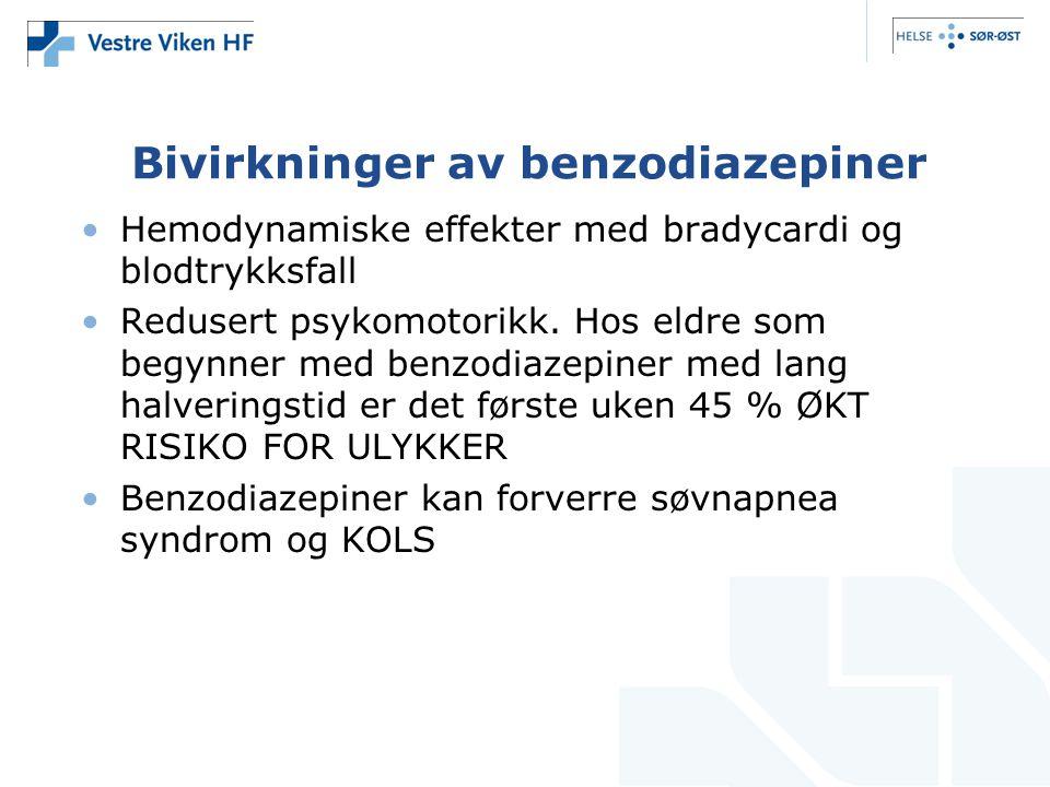 Bivirkninger av benzodiazepiner