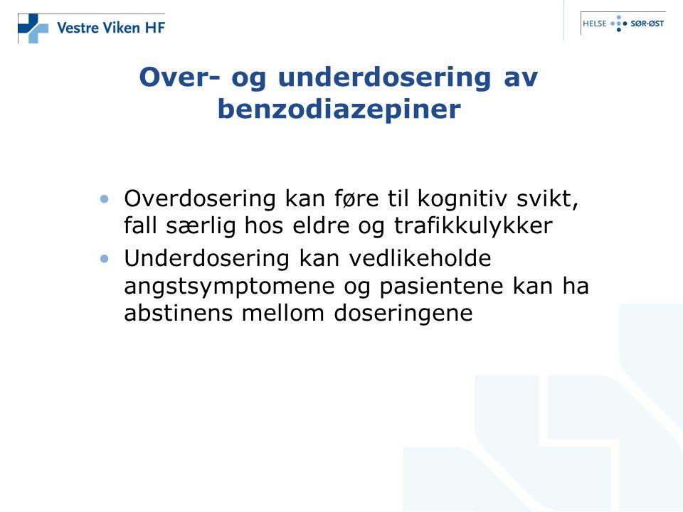 Over- og underdosering av benzodiazepiner