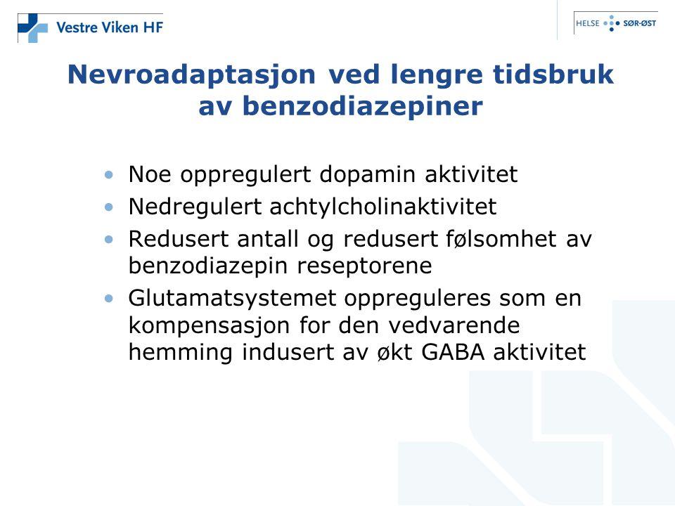 Nevroadaptasjon ved lengre tidsbruk av benzodiazepiner