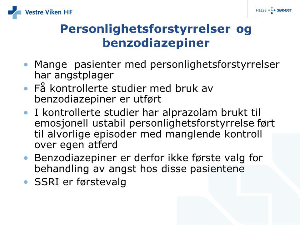 Personlighetsforstyrrelser og benzodiazepiner