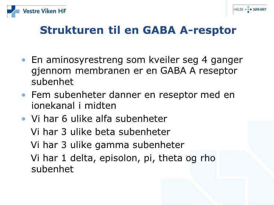 Strukturen til en GABA A-resptor