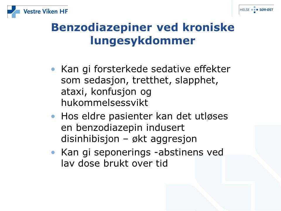 Benzodiazepiner ved kroniske lungesykdommer