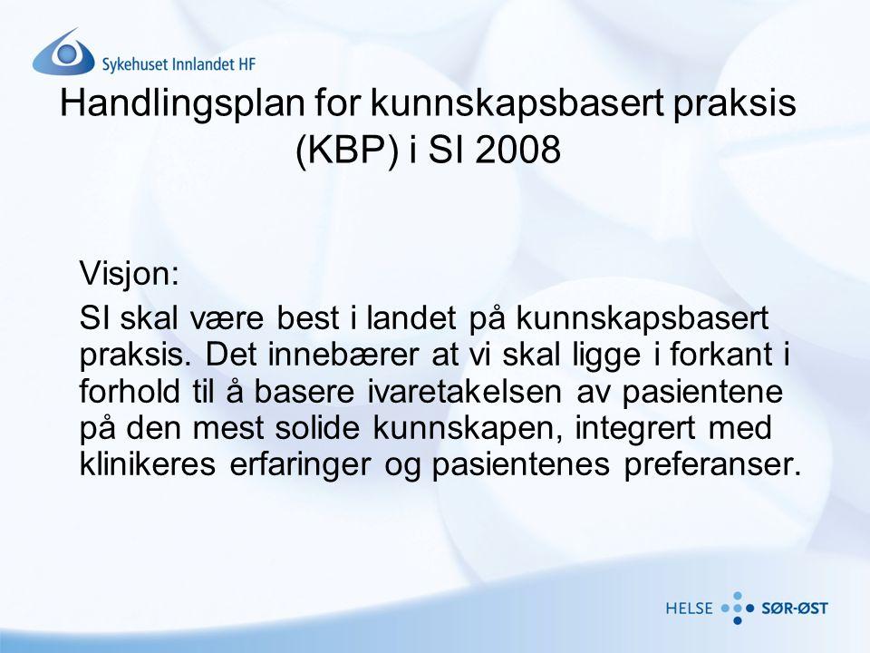 Handlingsplan for kunnskapsbasert praksis (KBP) i SI 2008