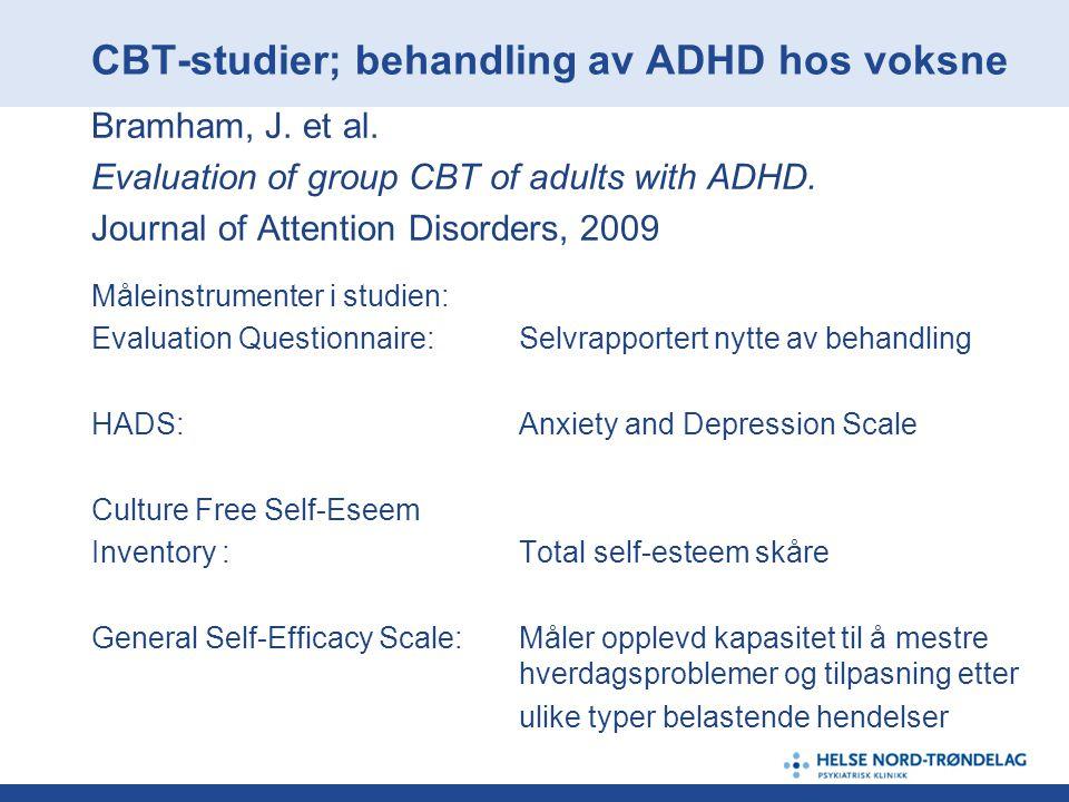 CBT-studier; behandling av ADHD hos voksne