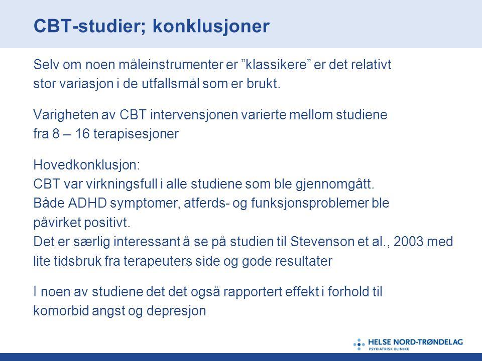 CBT-studier; konklusjoner