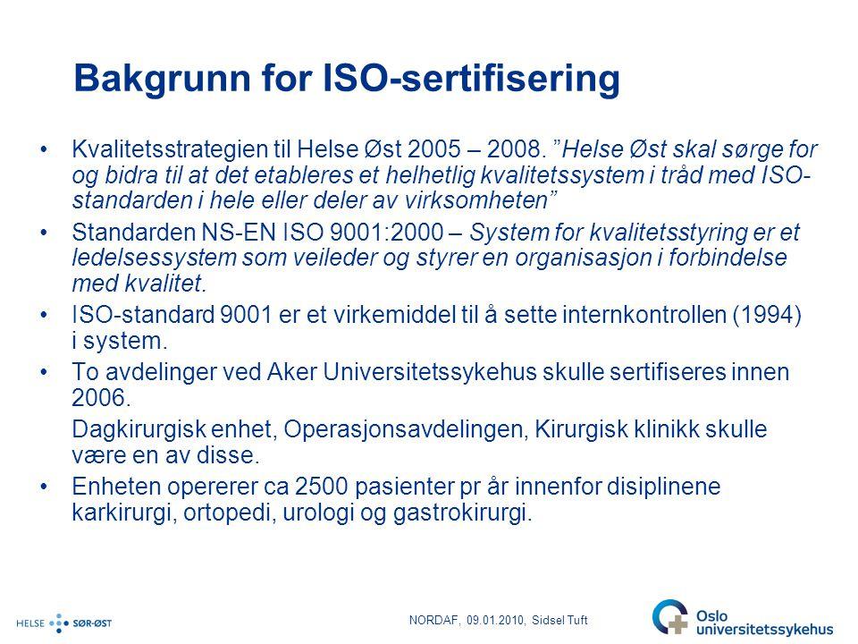 Bakgrunn for ISO-sertifisering