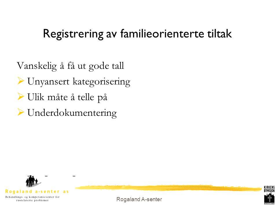 Registrering av familieorienterte tiltak