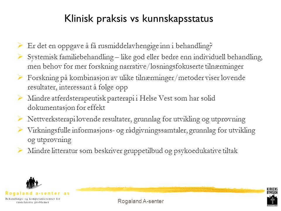 Klinisk praksis vs kunnskapsstatus