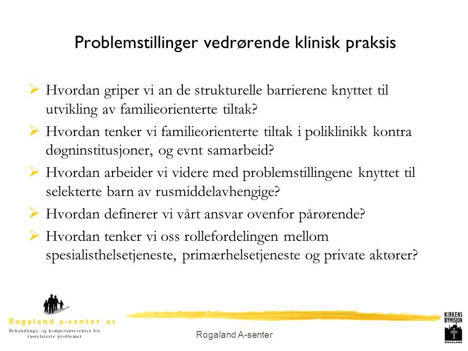 Problemstillinger vedrørende klinisk praksis