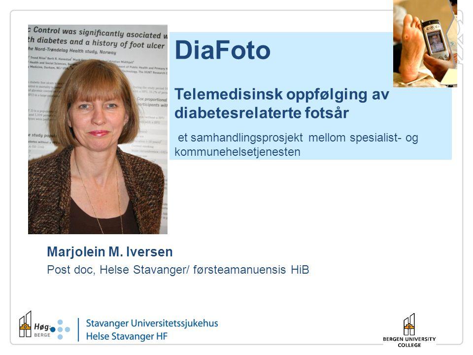Marjolein M. Iversen Post doc, Helse Stavanger/ førsteamanuensis HiB