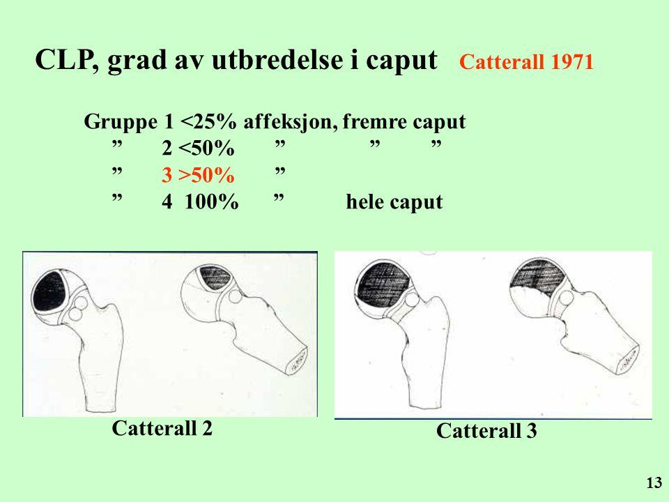 CLP, grad av utbredelse i caput Catterall 1971