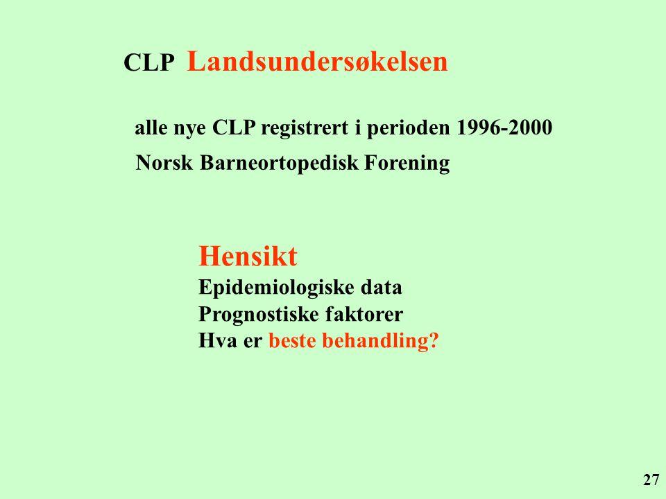 Hensikt CLP Landsundersøkelsen
