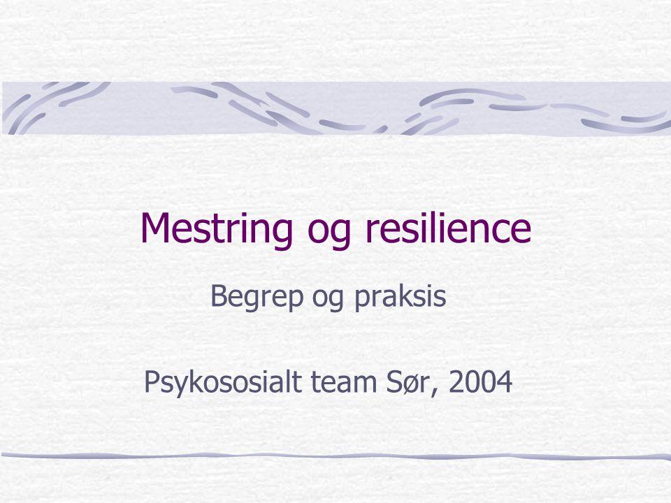 Mestring og resilience