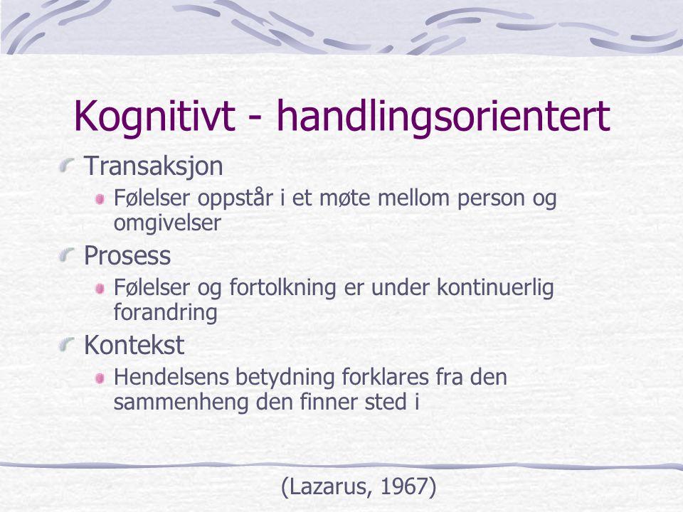 Kognitivt - handlingsorientert