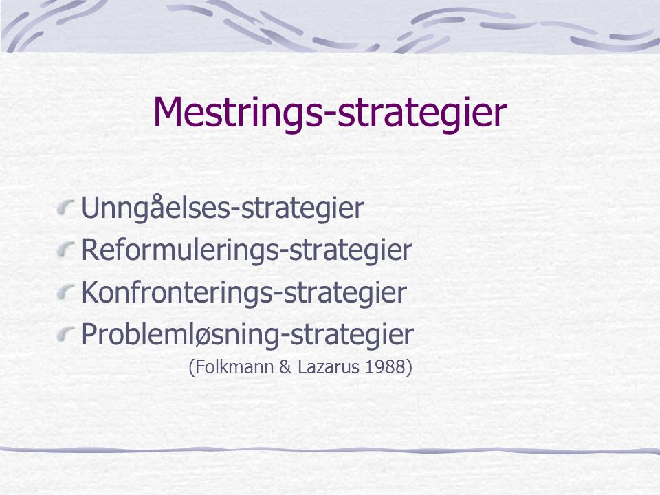Mestrings-strategier