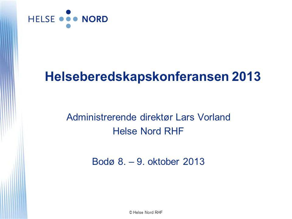 Helseberedskapskonferansen 2013