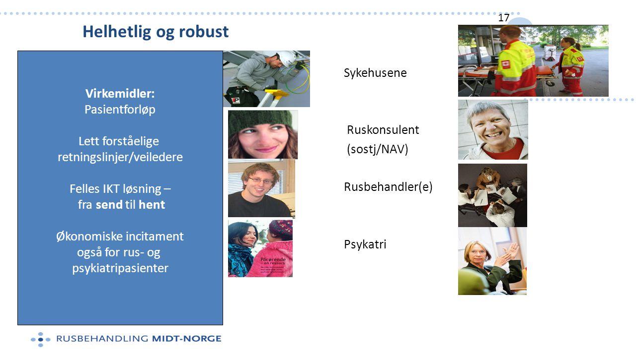 Helhetlig og robust Virkemidler: Pasientforløp Lett forståelige