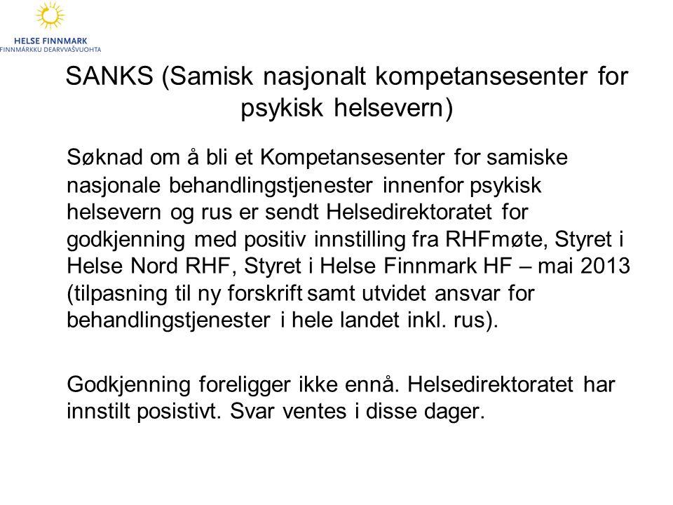 SANKS (Samisk nasjonalt kompetansesenter for psykisk helsevern)
