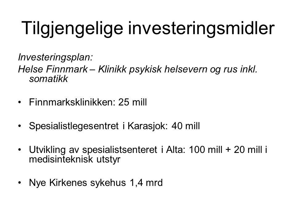 Tilgjengelige investeringsmidler