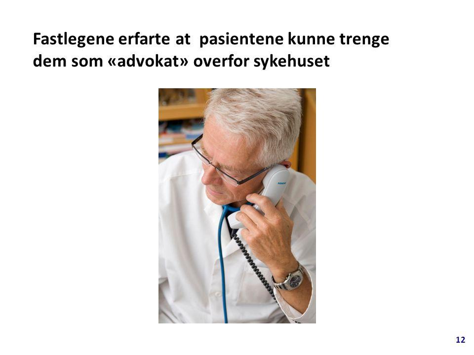 Fastlegene erfarte at pasientene kunne trenge