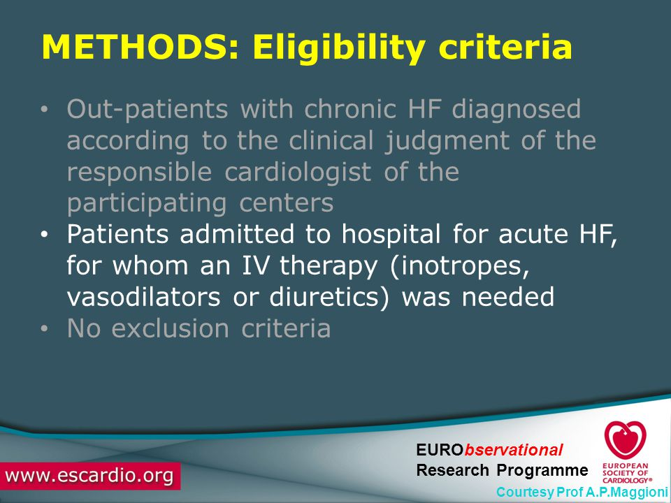 METHODS: Eligibility criteria