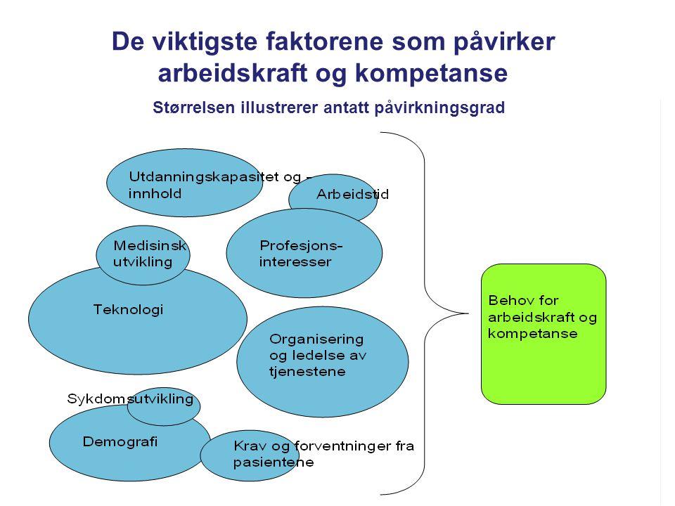 De viktigste faktorene som påvirker arbeidskraft og kompetanse