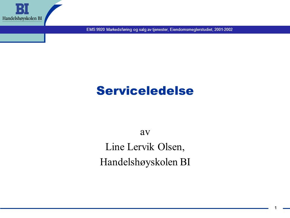 av Line Lervik Olsen, Handelshøyskolen BI