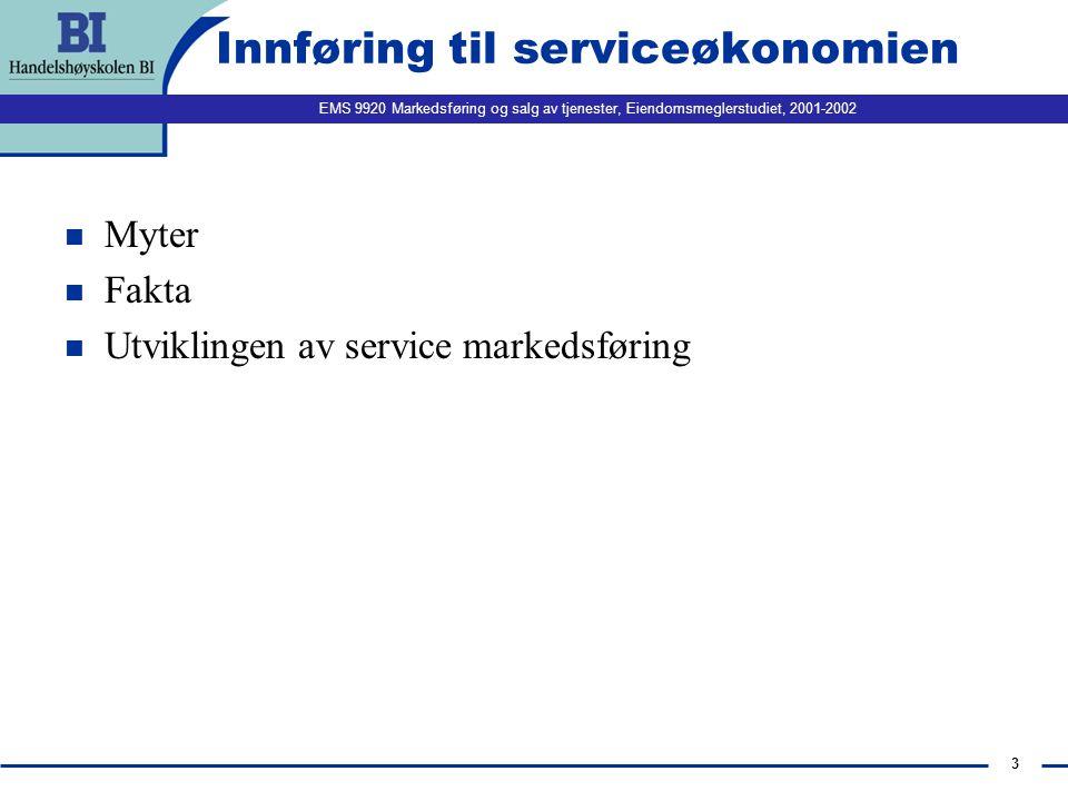 Innføring til serviceøkonomien