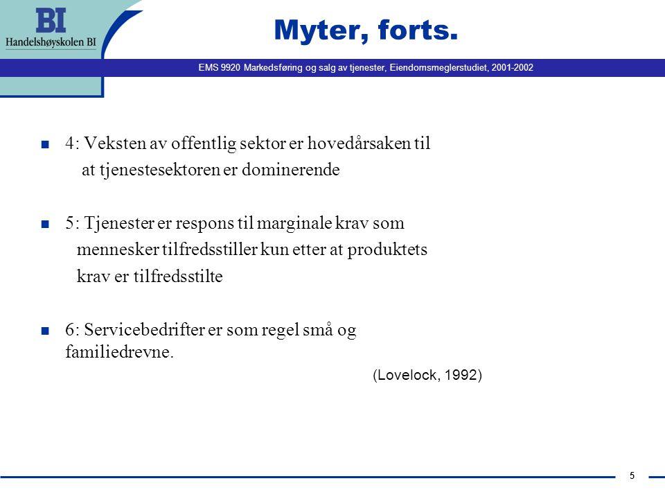 Myter, forts. 4: Veksten av offentlig sektor er hovedårsaken til