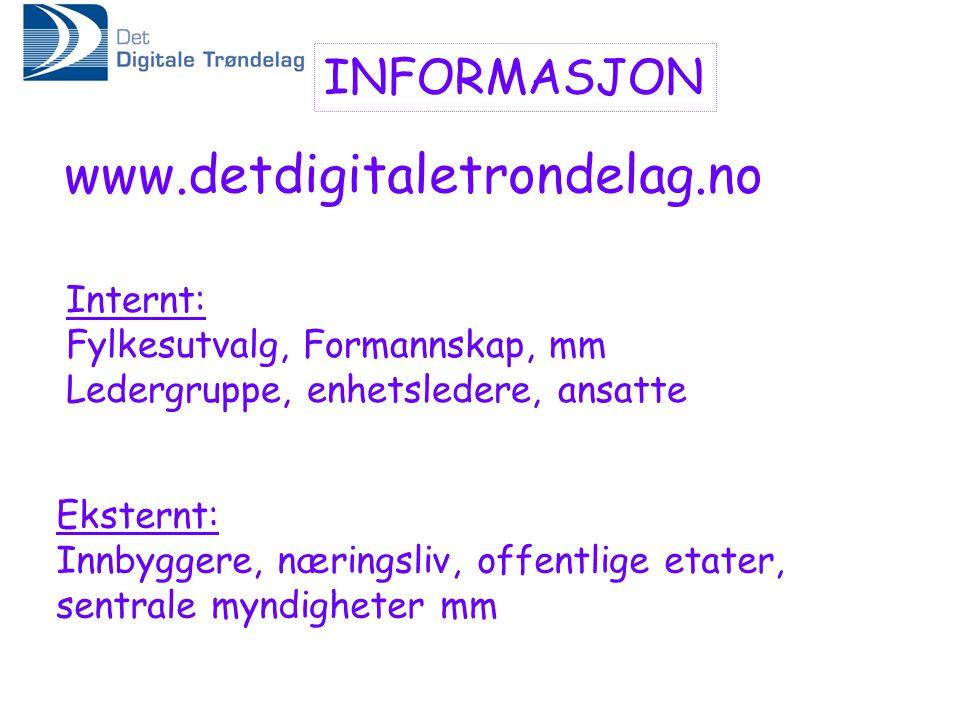 www.detdigitaletrondelag.no INFORMASJON Internt: