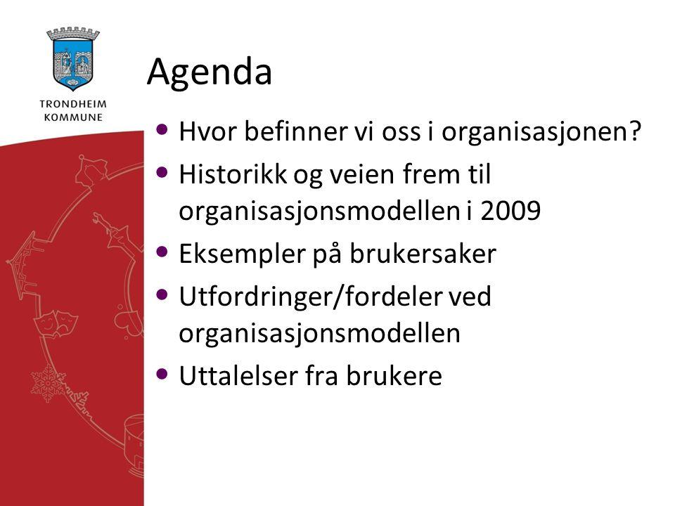 Agenda Hvor befinner vi oss i organisasjonen