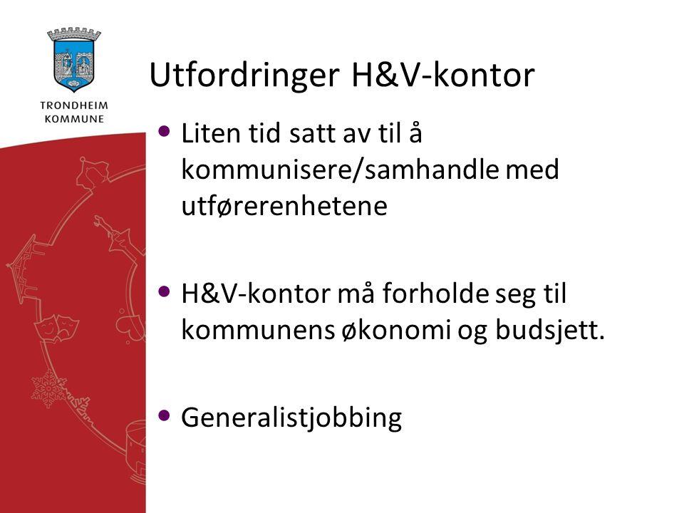 Utfordringer H&V-kontor