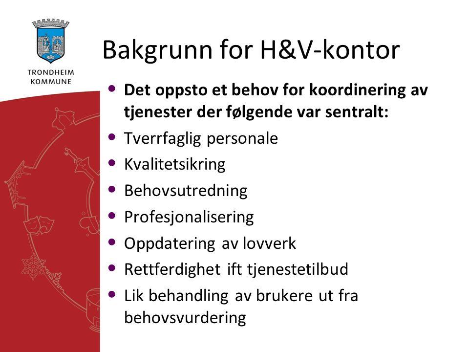 Bakgrunn for H&V-kontor