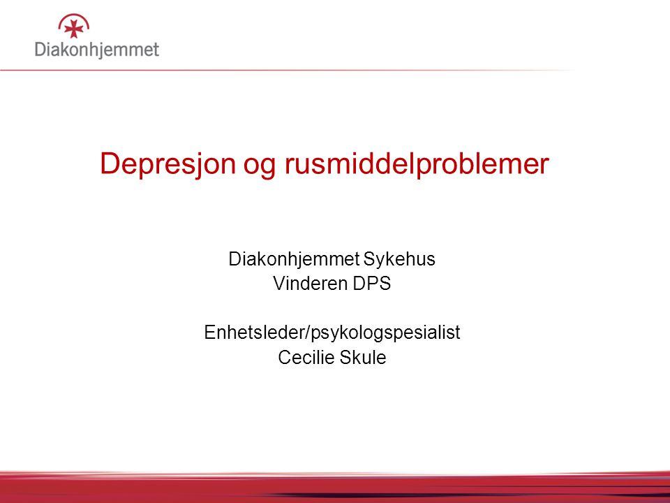 Depresjon og rusmiddelproblemer