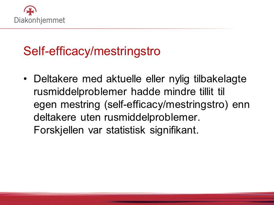Self-efficacy/mestringstro