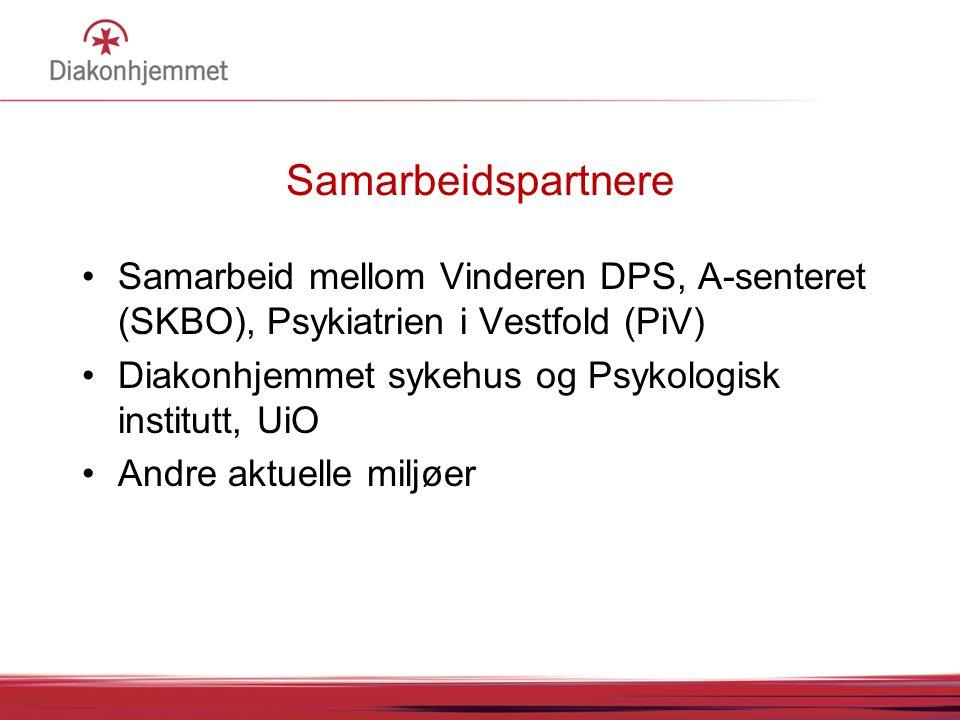 Samarbeidspartnere Samarbeid mellom Vinderen DPS, A-senteret (SKBO), Psykiatrien i Vestfold (PiV)