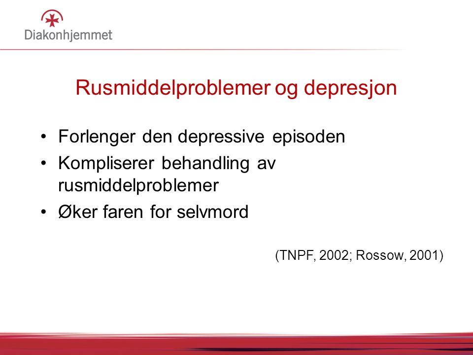 Rusmiddelproblemer og depresjon