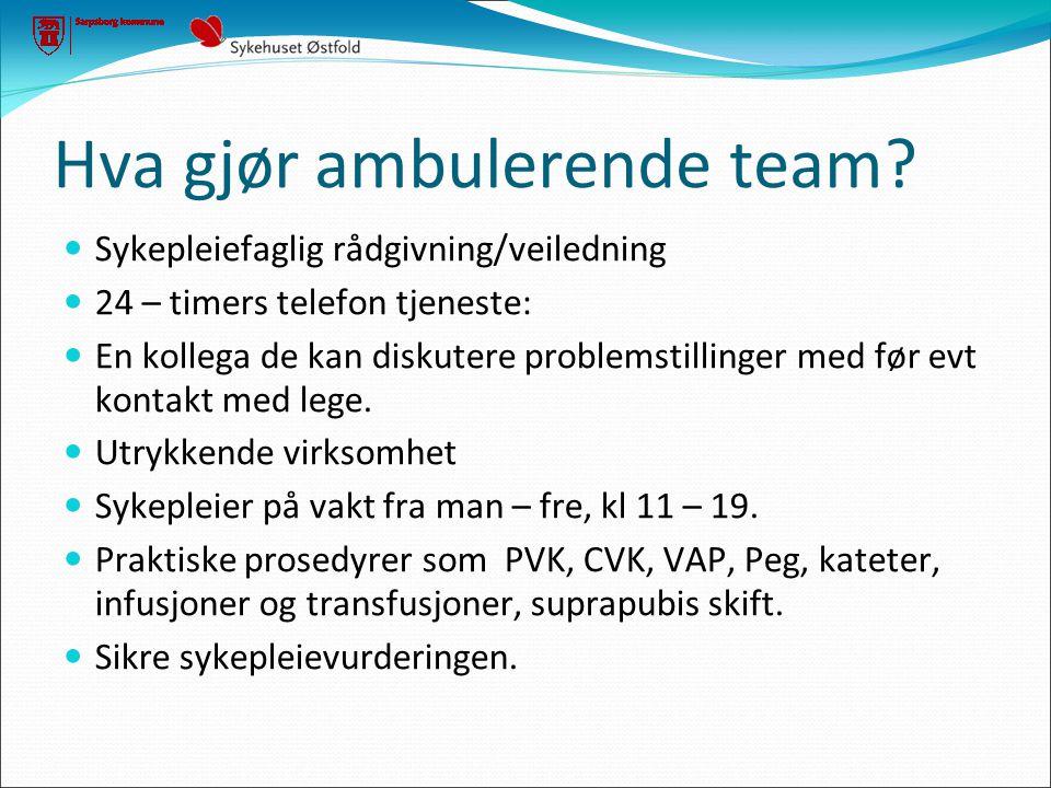 Hva gjør ambulerende team